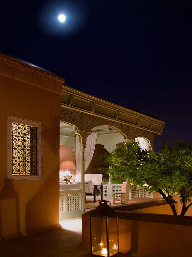 terrasse riad Dar Housnia à Marrakech