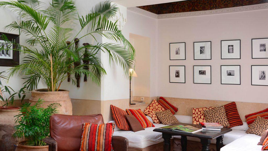 salon riad Dar Housnia à Marrakech
