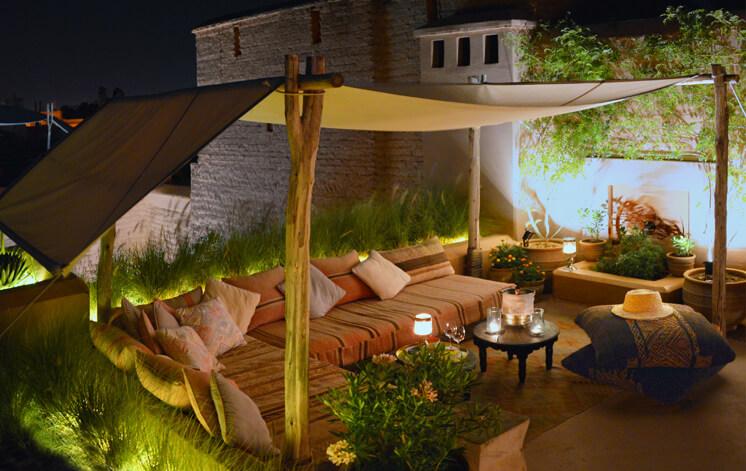 terrasse de la douiria du riad Dar Housnia